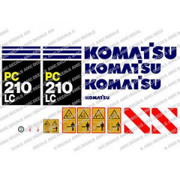 KOMATSU Burma  PC210LC DIGGER DECAL STICKER SET