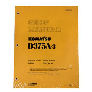 Komatsu Cuba  D375A-3 Service Repair Workshop Printed Manual