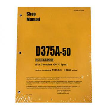 Komatsu Egypt  D375A-5D Service Repair Workshop Printed Manual