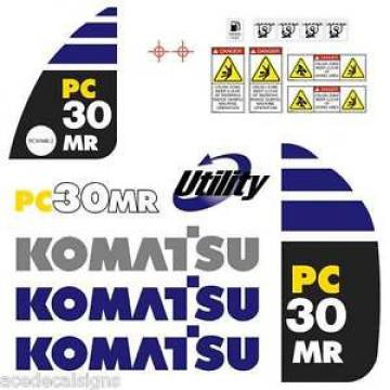 Komatsu Andorra  PC30MR-2  Decals Stickers, repro Kit for Mini Excavator