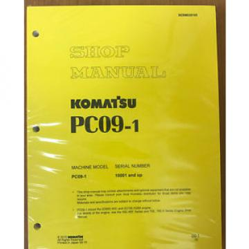 Komatsu Ecuador  Service PC09-1 Shop Manual Repair Book NEW