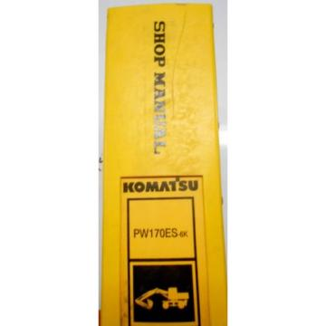 KOMATSU Russia  PW170ES-6 WHEELED EXCAVATOR SHOP MANUAL K32001-UP