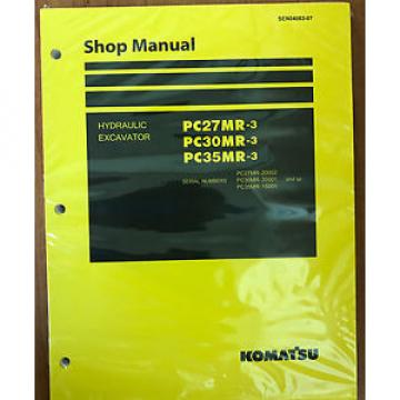 Komatsu Niger  Service PC27MR-3, PC30MR-3, PC35MR-3 Excavator Shop Manual NEW #1