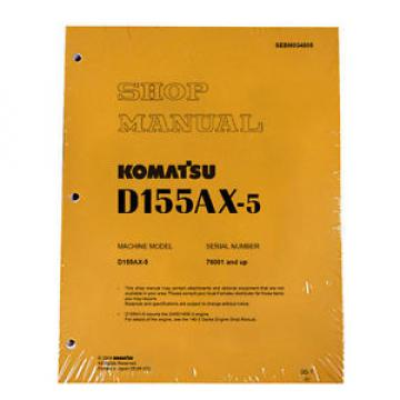 Komatsu Argentina  D155AX-5 w/ 6D140E-3 Engine Service Repair Printed Manual