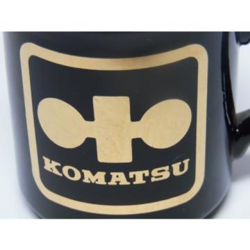 Vtg Niger  1980s Japan Komatsu DOZER CONSTRUCTION EQUIPMENT Advertising Coffee Cup Mug