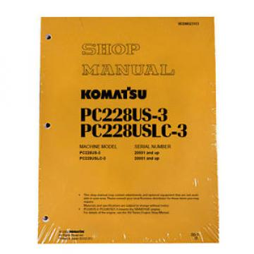 Komatsu Netheriands  PC228US-3, PC228USLC-3 Service Repair Printed Manual