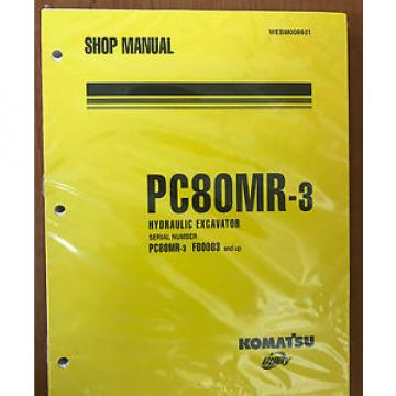 Komatsu Slovenia  Service PC80MR-3 HYDRAULIC Excavator Shop Manual NEW #1