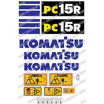 KOMATSU Barbados PC15R SET DI ADESIVI DECAL SCAVATRICE