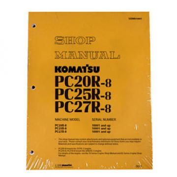 Komatsu Costa Rica  Service PC20-8, PC25R-8, PC27R-8 Shop Manual