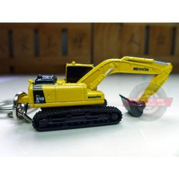 Authentic Bulgaria  metal Keyring truck Komatsu excavator model  1-128