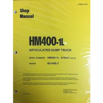 Komatsu France  HM400-1L Shop Service Manual Articulated Dump Truck