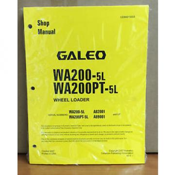 Komatsu Ecuador  Galeo WA200-5L, WA200PT-5L Wheel Loader Shop Service Repair Manual