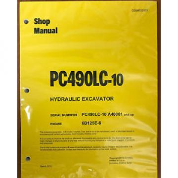 Komatsu Slovenia  PC490LC-10 Hydraulic Excavator Shop Repair Service Manual