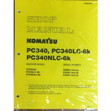 Komatsu Egypt PC340LC-6K, PC340NLC-6K PC340 Service Manual