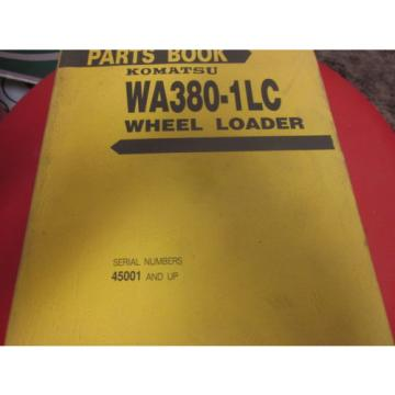 Komatsu Hongkong  WA380-1LC Wheel Loader Parts Book Manual s/n 45001 Up
