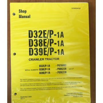 Komatsu Uruguay D32E/P-1A, D38E/P-1, D39E/P-1 Dozer Bulldozer Service Shop Repair Manual