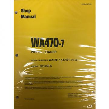 Komatsu Slovenia  WA470-7 Wheel Loader Shop Service Repair Manual