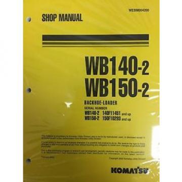 Komatsu Cuba Service WB140-2, WB150-2 Backhoe Shop Manual