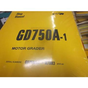 Komatsu Brazil  GD750A-1 Motor Grader Repair Shop Manual