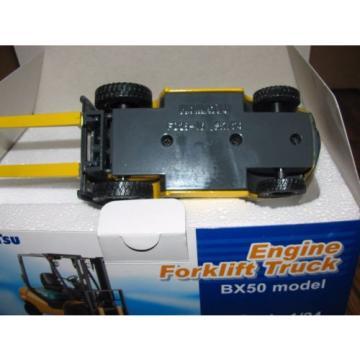 KOMATSU Ethiopia BX50 Engine Fork Lift Truck Toy 1/24 Die Cast Metal Collectible  HTF