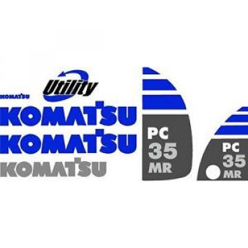 Komatsu Bulgaria  PC 35 MR Excavator Decal Set