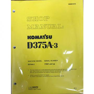 Komatsu Iran  D375A-3 Service Repair Workshop Printed Manual