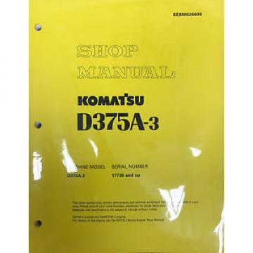 Komatsu SolomonIs D375A-3 Service Repair Workshop Printed Manual