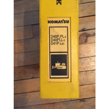 Komatsu Gibraltar D40P PL-3 D40PLL-3 D41P-3 Crawler Tractor Dozer Parts Catalog Manual