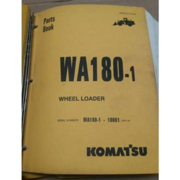 Komatsu Iran  WA180-1 Wheel Loader Parts Book