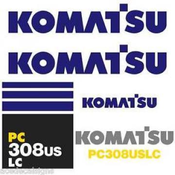 PC308USLC Guyana Decals PC308US Stickers Komatsu Decals Komatsu Stickers- New Decal Kit