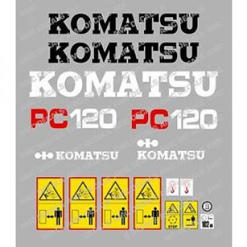 KOMATSU Rep. pc120-5 Escavatore Adesivo Decalcomania Set