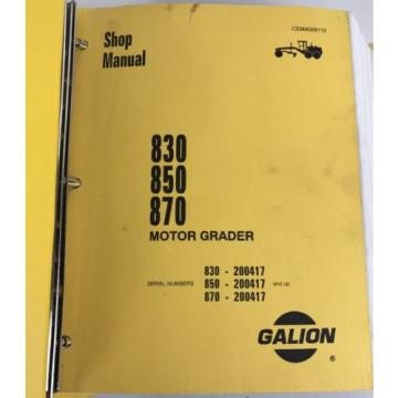 Galion Liechtenstein 830 850 870 Komatsu Dresser Motor Grader Shop Service Manual cebmg58112