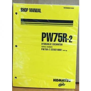 Komatsu United States of America  Service PW75R-2 Excavator Shop Manual NEW REPAIR