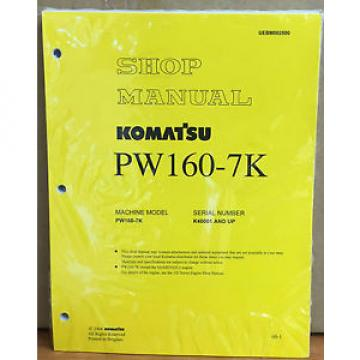 Komatsu Bahamas  Service PW160-7K Excavator Shop Manual NEW REPAIR