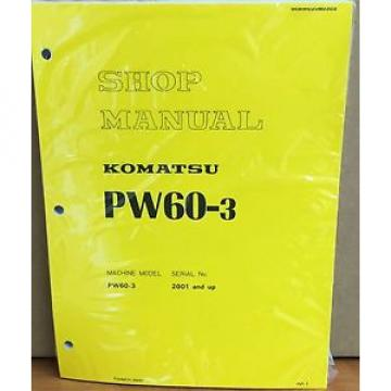 Komatsu France  Service PW60-3 Excavator Shop Manual NEW REPAIR