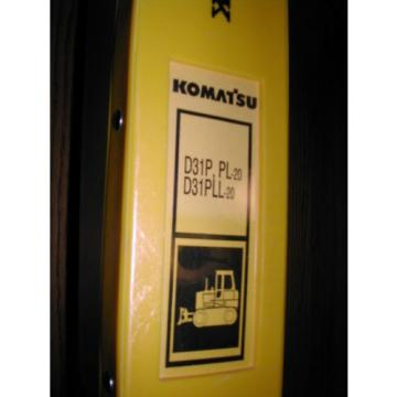Komatsu Samoa Eastern  D31P/PL/PLL-20 PARTS MANUAL BOOK CATALOG BULLDOZER TRACTOR GUIDE LIST