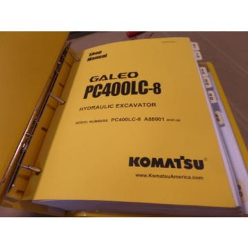 KOMATSU Hongkong  PC400LC-8 GALEO HYDRAULIC EXCAVATOR SHOP MANUAL S/N A88001 & UP