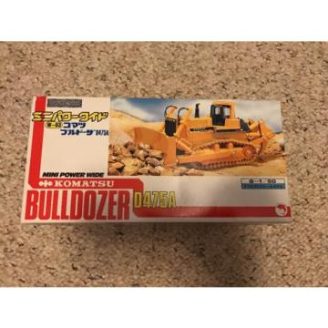 New Uruguay  Komatsu Bulldozer D475A 1/50 Scale Mini Power Wide Box