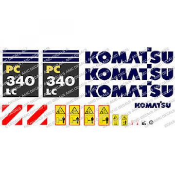 KOMATSU Denmark  PC340LC DIGGER DECAL STICKER SET