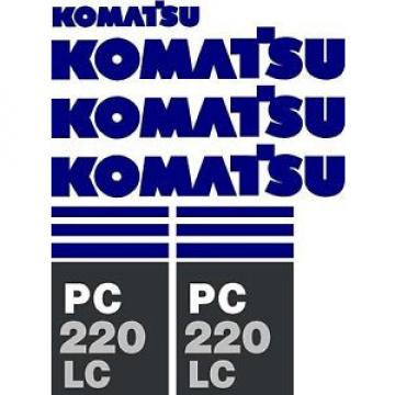 Komatsu Reunion  PC 220 LC Excavator Decal Set