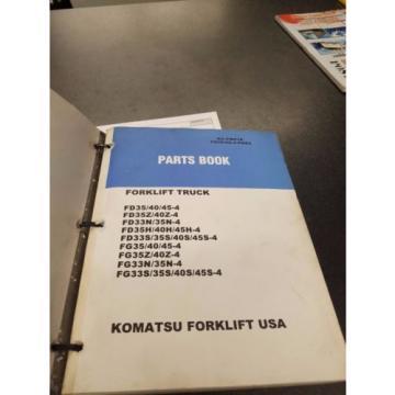 2 Ecuador komatsu forklift part books