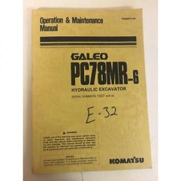 Komatsu Costa Rica  PC78MR-6 Hydraulic Excavator Operation and Maintenance Manual