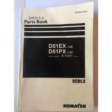 Komatsu Ecuador D51EX-22 D51PX-22 Crawler Dozer Parts Book