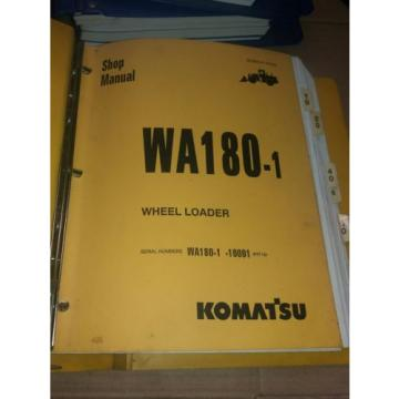 KOMATSU Andorra  WA180-1 WHEEL LOADER SERVICE SHOP REPAIR BOOK MANUAL