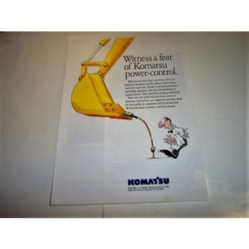 1994 Liechtenstein  Komatsu Construction Excavator Power Shovel Photo Print Magazine Ad