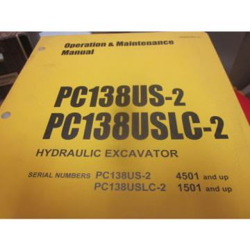 Komatsu Samoa Eastern  PC138US-2 PC138USLC-2 Hydraulic Excavator Operation & Maintenance Manual