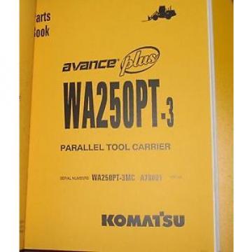 PARTS Niger MANUAL FOR WA250PT-3 SERIAL A78000 KOMATSU WHEEL LOADER