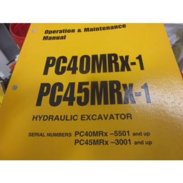 Komatsu Samoa Eastern  PC40MRX-1 PC45MRX-1 Hydraulic Excavator Operation & Maintenance Manual