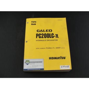 Komatsu Reunion  Galeo PC200LC-7L excavator parts book manual BEPB009700