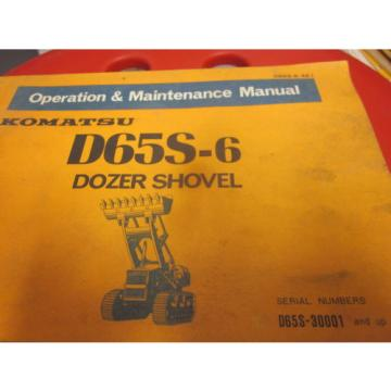 Komatsu Solomon Is  D65S-6 Dozer Shovel Operation & Maintenance Manual